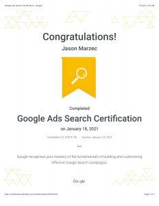 Digital Marketing Certificate With Google Ads